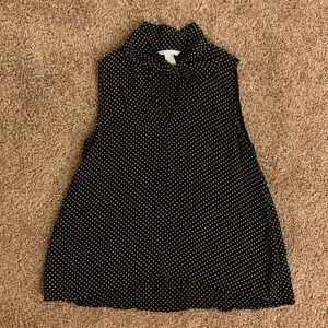 H&M Blouse with White Polka Dots